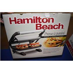 New in box Hamilton Beach Panini press