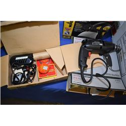 """Craftsman model 22437 110 volt 3/8"""" power drill and electric soldering gun"""
