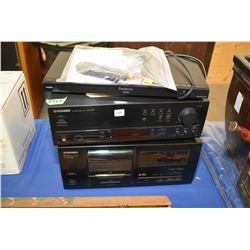 Stereo components including Panasonic DVD/CD player model, DVD-SF9, Pioneer stereo receiver model SX