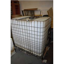 Cage wrapped plastic water container with valve