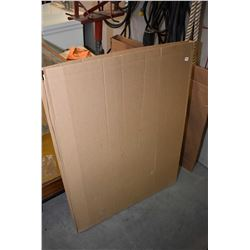 Cardboard box with large selection of unframed prints