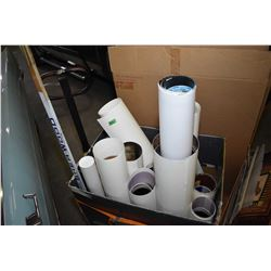 Large box containing huge selection of rolled up unframed prints