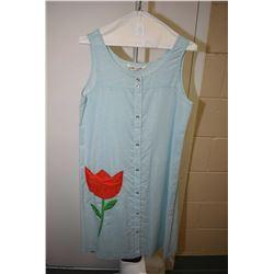 Vintage Models Coat cotton sundress with appliqu'd tulip