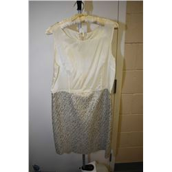 Vintage woven gold lame skirt with top slip