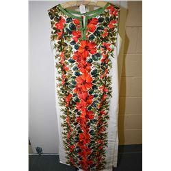 Vintage Elsie Krassas Waikiki sleeveless full length patio gown