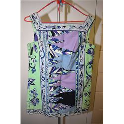 Vintage Emilio Pucci cotton sleeveless mini dress made exclusively for Sax Fifth Avenue