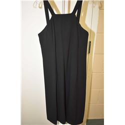 Vintage halter style black dress with built in corset