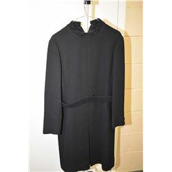 Vintage heavy black knee length dress