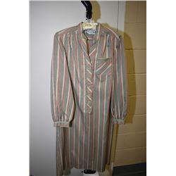 Vintage Schrader Sport, New York tab collar striped dress with belt