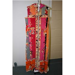 Vintage Emilio Pucci terry towel patio gown with removable hood made for Sax Fifth Avenue