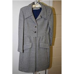Vintage I.Magnin & Co. David Kid Bouquet fitted dress coat