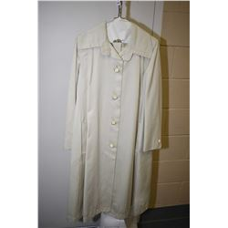 Vintage Holt Renfrew swing raincoat and belt