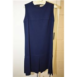 Vintage navy blue sleeveless dress labelled Made in France for Holt Renfrew