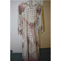 Vintage full length gown with handkerchief sleeves made by David Brown, California