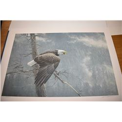 "Unframed limited edition print ""The Air, the Forest and the Watch"" pencil signed by artist Robert Ba"