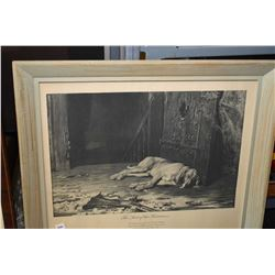 "Framed black and white print ""The Last of the Garrison"""