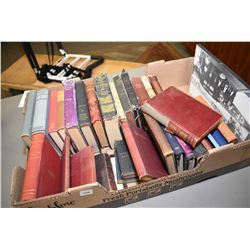 "Selection of vintage books including bibles, ""Your Mother's Apron Strings"", ""The Art of Illustration"