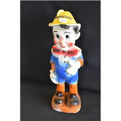 "Vintage chalk ware Pinocchio 16"" in height"