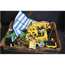 Selection of Lego building bricks including ship, castle and pirate themed sets