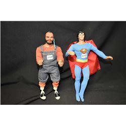 Mr. T and DC Comics Superman figures