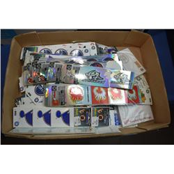 Large selection of hockey team stickers including Red Wings, Team Canada, Buffalo Sabres, Blackhawks