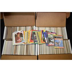 Four 400 count boxes of assorted sports cards