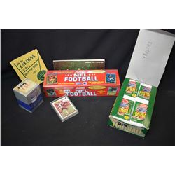 Factory sealed 1990 Score football collector card set, an unopened Superbowl XXV commemorative card