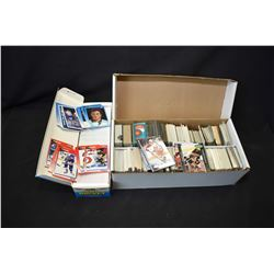1600 count box filled with predominately hockey cards and an opened 1991 Score Bilingual edition NHL