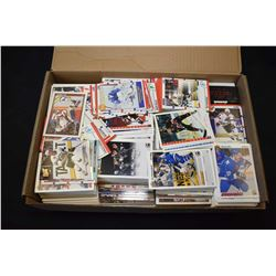 Large shoe box filled with hockey cards