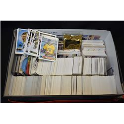 Large shoe box filled with predominately hockey cards
