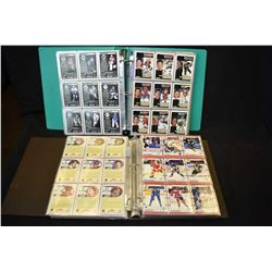 Two three ring binders of over 100 pages of hockey cards