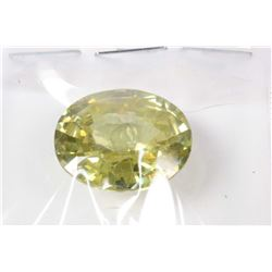 Large loose oval cut citrine gemstone