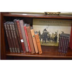 Selection of hard cover books including Paul Kane's Frontier, Visions of the First American, Charles