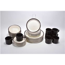 Selection of English made Doverstone dishwasher safe tableware including eight each of dinner plates