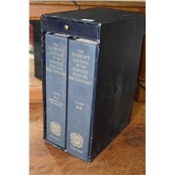 Two volume boxed set The Compact Edition of the Oxford English Dictionary from Oxford University Pre