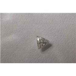 Trillion cut loose white diamond gemstone