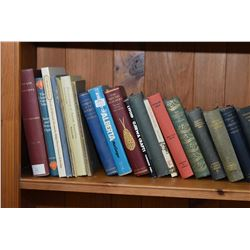 Selection of hardcover books including The Collected Tales of A.E. Coppard, The Politics of Aristotl