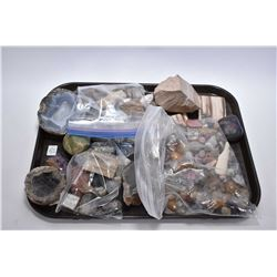 Large selection of natural polished rocks, geodes, petrified wood etc.