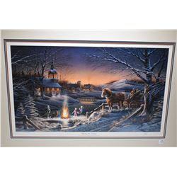 """Two framed limited edition prints including """"Sharing The Evening"""" 469/29500 and """"Almost Home"""" 1600/2"""
