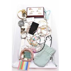 Selection of collectible jewellery including Disney Couture, Juicy Couture, Swarovski crystal, sterl