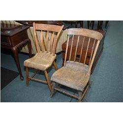 rocking chair and occasional chair