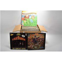 Box of vintage LP's including Three Dog Night, Suzie Quatro, Paper Lace, BTO, Today's Super Greats,