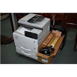 Ricoh commercial grade colour laser printer Afficio MPC305 SPF with seven new in package toners, sec