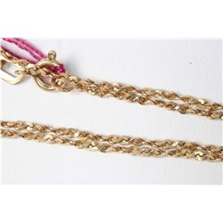 "10kt yellow gold 20"" neck chain"
