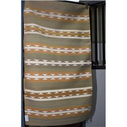"Striped South West style throw rug 35"" X 60"""