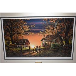 "Framed limited edition print ""Morning Surprise"" 7459/9500 pencil signed by artist Terry Redlin"