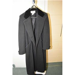 Ladies Talbots full length 100% wool coat, size 12