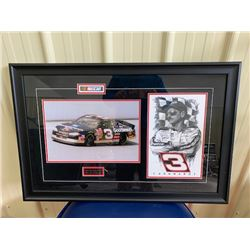 EXCLUSIVE NASCAR COLLECTION! BEAUTIFULLY FRAMED TRIBUTE TO DALE EARNHARDT SR #3 GONE...BUT NOT FORGO