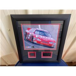 EXCLUSIVE NASCAR COLLECTION! LIMITED EDITION #8 DALE EARNHARDT JR PICTURE. FEATURES ACTUAL PIECE OF