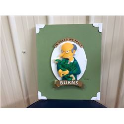 LIMITED EDITION! SIMPSONS RESIN SCULPTURE OF MR.BURNS.  SIGNED AND NUMBERED BY ARTIST TIM WEST. INCL